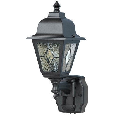 Heath Zenith 7.75-In H Black Motion Activated Outdoor Wall Light throughout Heath Zenith Outdoor Wall Lighting (Image 2 of 10)