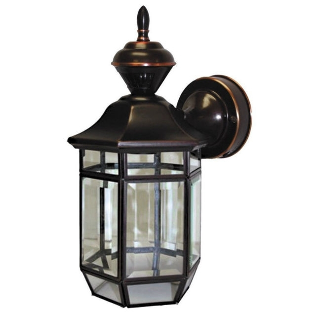 Heath Zenith Hz-4175-Ac Antique Copper Lexington 1 Light 150 Degree with Heath Zenith Outdoor Wall Lighting (Image 3 of 10)