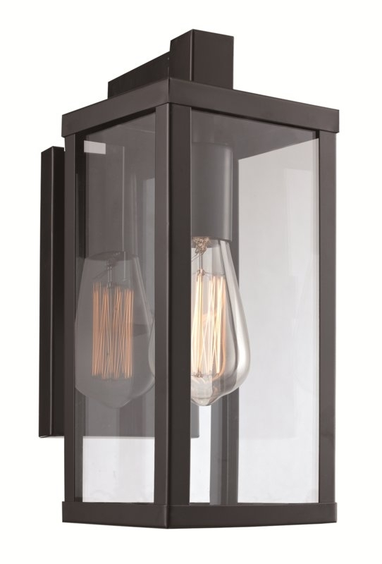 Helena 1-Light Outdoor Wall Lantern & Reviews | Allmodern throughout Outdoor Wall Light Glass (Image 6 of 10)