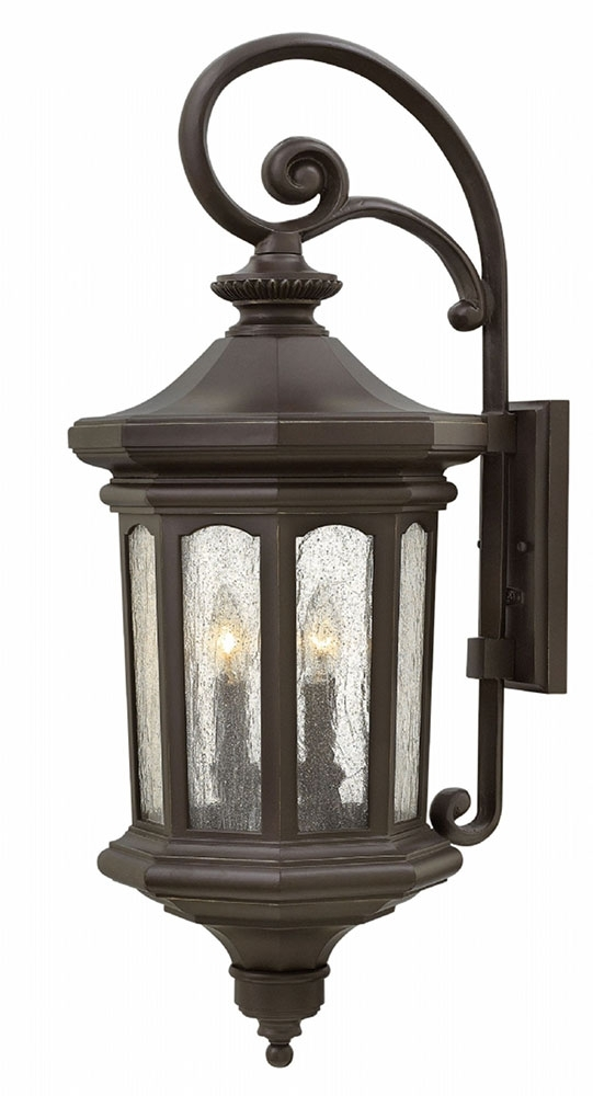 Hinkley 1605Oz Raley Traditional Oil Rubbed Bronze Outdoor Wall intended for Large Outdoor Wall Light Fixtures (Image 7 of 10)
