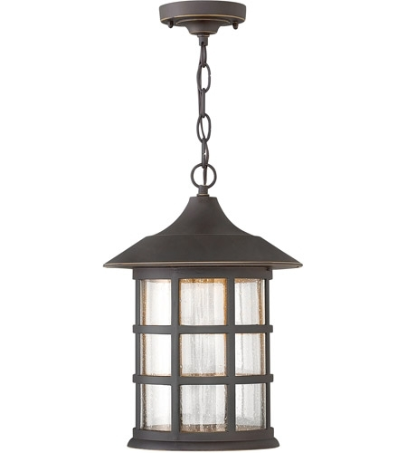 Hinkley 1802Oz-Led Freeport Led 10 Inch Oil Rubbed Bronze Outdoor within Oil Rubbed Bronze Outdoor Hanging Lights (Image 6 of 10)