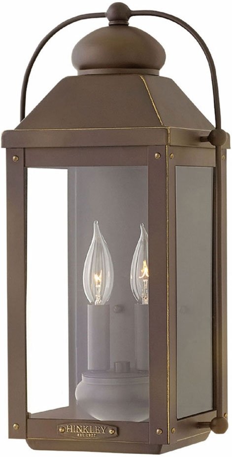 Hinkley 1854Lz Anchorage Light Oiled Bronze Outdoor Wall Sconce intended for Hinkley Outdoor Wall Lighting (Image 3 of 10)