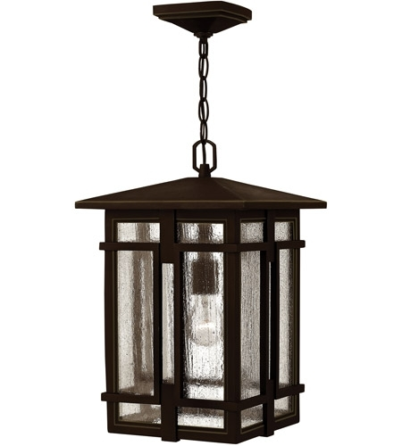 Hinkley 1962Oz-Led Tucker Led 11 Inch Oil Rubbed Bronze Outdoor inside Oil Rubbed Bronze Outdoor Hanging Lights (Image 7 of 10)