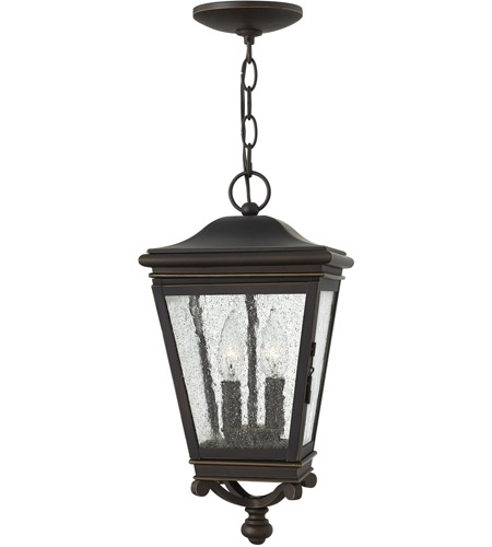 Hinkley 2462Oz Lincoln 2 Light 9 Inch Oil Rubbed Bronze Outdoor regarding Outdoor Hanging Oil Lanterns (Image 8 of 10)