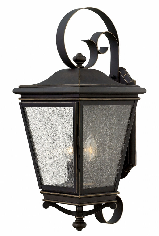 Hinkley 2468Oz Lincoln Oil Rubbed Bronze Outdoor Wall Light Fixture pertaining to Oil Rubbed Bronze Outdoor Wall Lights (Image 5 of 10)