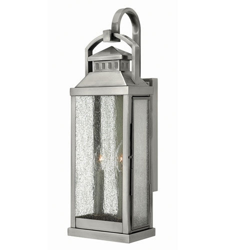 Hinkley Lighting Revere 2 Light Outdoor Wall In Pewter 1184Pw Throughout Pewter Outdoor Wall Lights (Gallery 4 of 10)