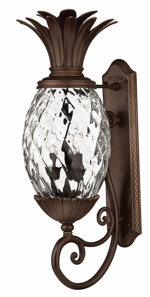 "Hinkley Plantation 28"" Pineapple Tropical Outdoor Wall Light Fixture with regard to Tropical Outdoor Wall Lighting (Image 2 of 10)"
