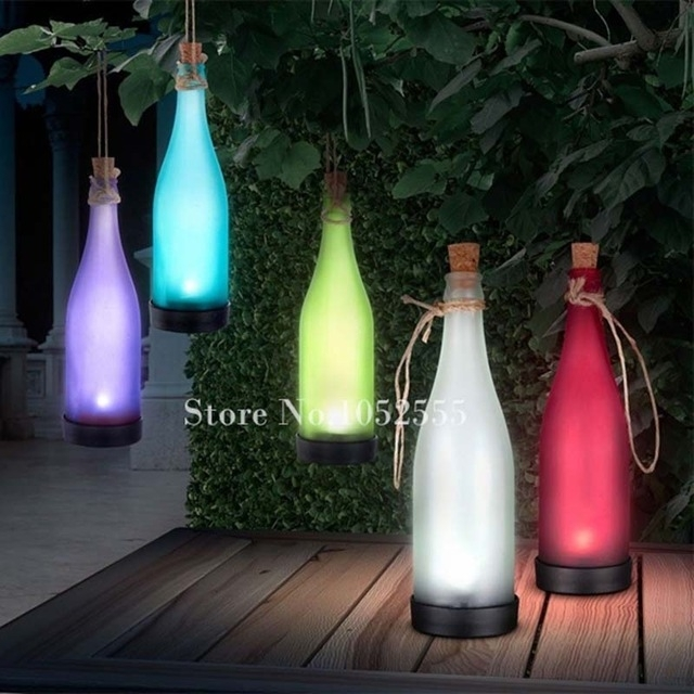 Hot 5Pcs Solar Powered Lamp Plastic Bottle Modeling Lights Outdoor throughout Outdoor Plastic Hanging Lights (Image 7 of 10)