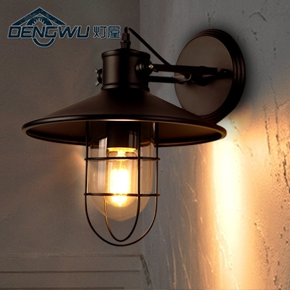 House Restaurant Bar Loft Vintage Industrial Wall Lamp Bedroom in Industrial Outdoor Wall Lighting (Image 3 of 10)