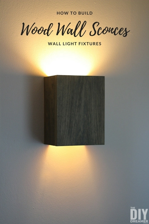 How To Build Wall Light Fixtures Diy Wood Sconces Throughout regarding Diy Outdoor Wall Lights (Image 7 of 10)