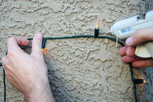 How To Hang Christmas Lights On Stucco | Hanging Christmas Lights within Hanging Outdoor Lights On Stucco (Image 3 of 10)