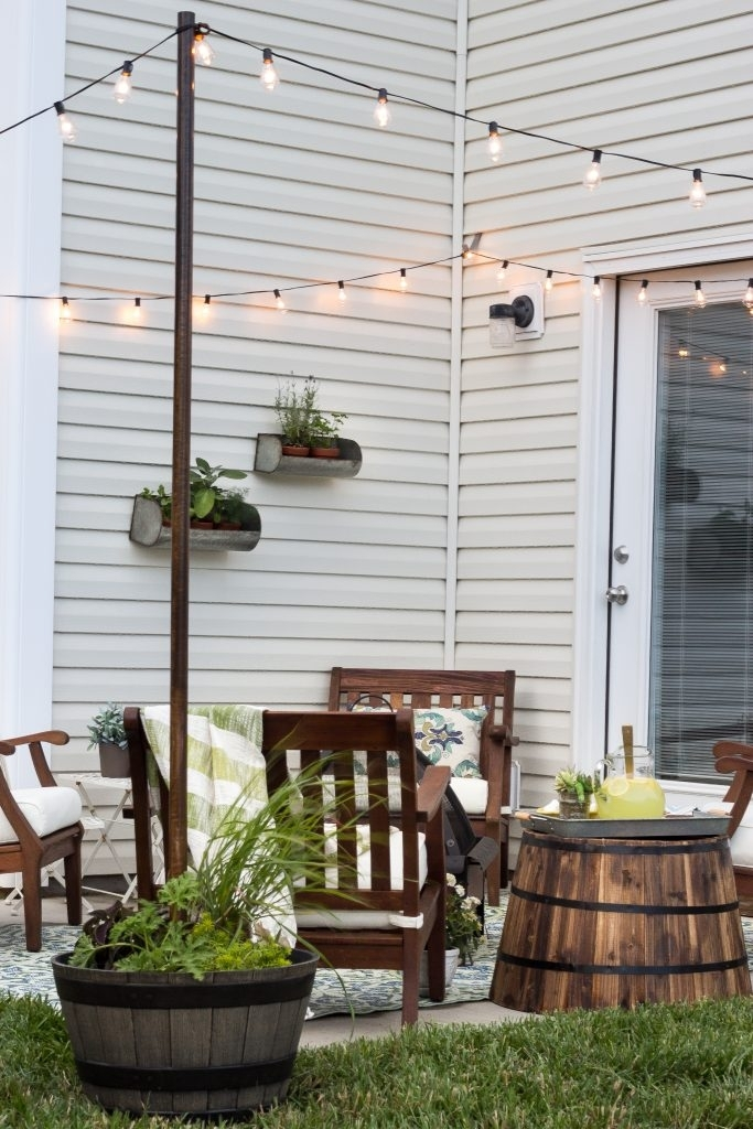 How To Hang Decor On Siding - Bless'er House inside Hanging Outdoor Lights on Vinyl Siding (Image 2 of 10)