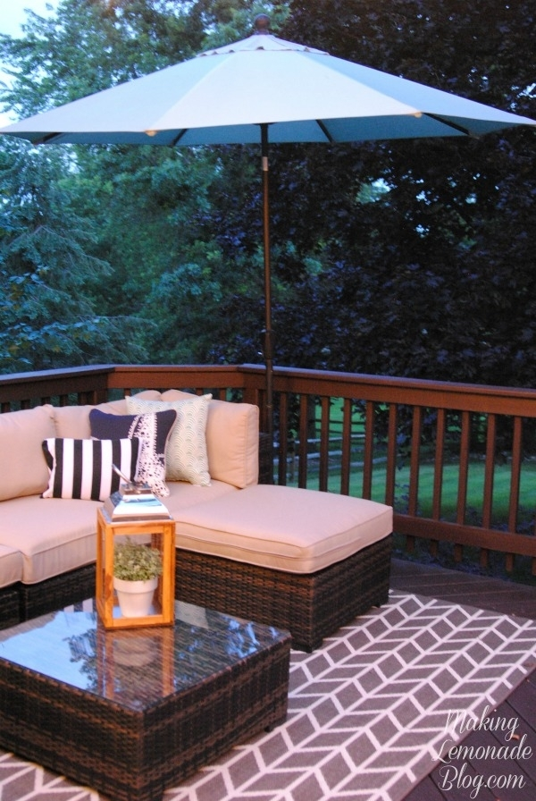 How To Hang Outdoor String Lights (The Deck Diaries, Part 3 inside Hanging Outdoor Lights on Deck (Image 6 of 10)