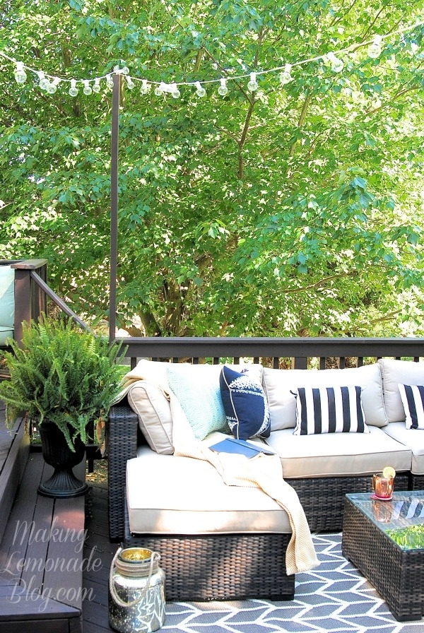 How To Hang Outdoor String Lights (The Deck Diaries, Part 3 within Hanging Outdoor Lights For A Party (Image 7 of 10)
