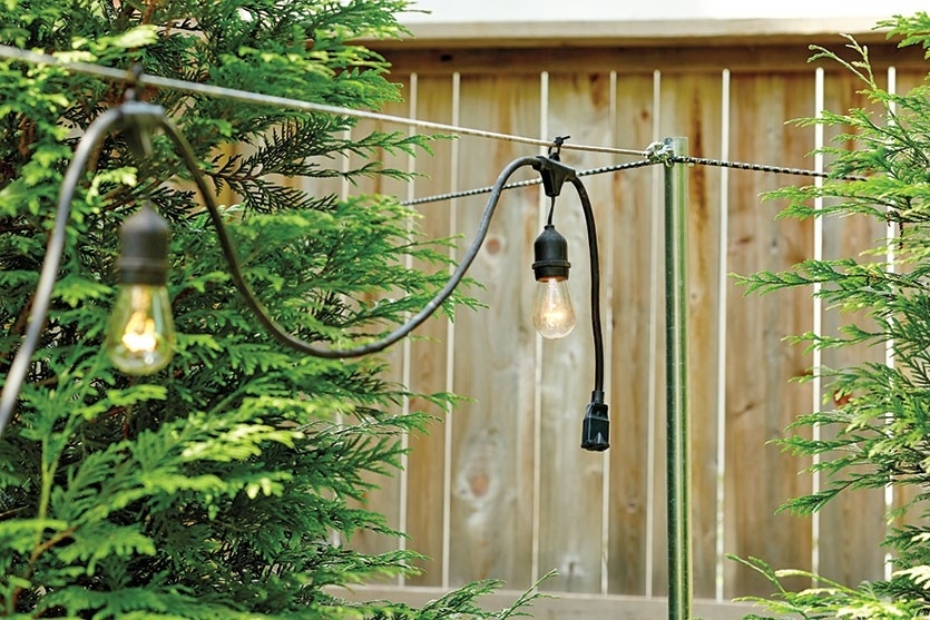 How To Hang String Lights | Garden, Lights And Patios regarding Hanging Outdoor Lights With Wire (Image 4 of 10)
