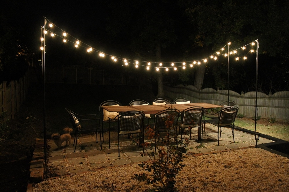 Outdoor Hanging Front Porch Lights: 10 Photos Hanging Outdoor String Lights At Target
