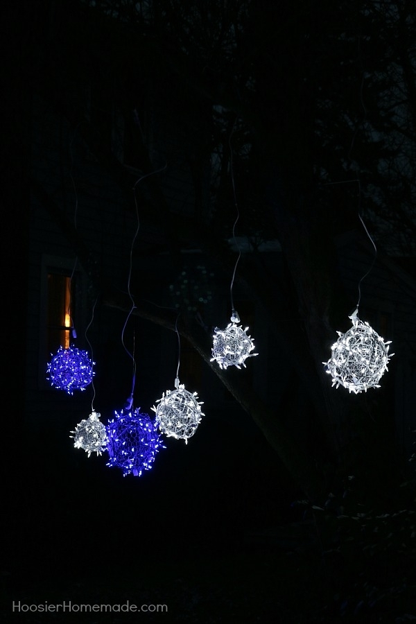 How To Make Light Balls - Hoosier Homemade within Outdoor Hanging Christmas Light Balls (Image 6 of 10)