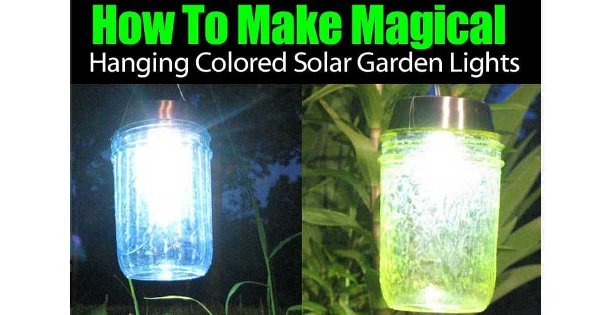 How To Make Magical Hanging Colored Solar Garden Lights - for Solar Outdoor Hanging Lights (Image 3 of 10)