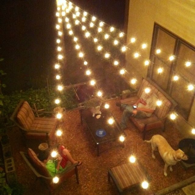 I Love This Look Of Lights Over The Deck. She Gives Directions On with Outdoor Hanging Lights Bulbs (Image 5 of 10)