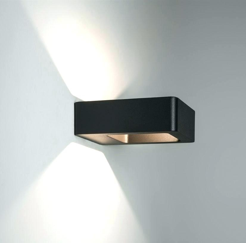 Ideas Outdoor Wall Light With Electrical Outlet And Outdoor Up And with Black Outdoor Led Wall Lights (Image 5 of 10)