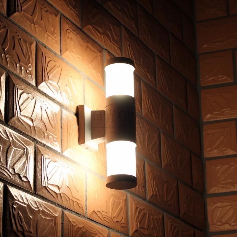 Ikea Wall Light Outdoor Aluminum Wall Lamp Brief Double Slider Up regarding Garden Outdoor Wall Lights (Image 5 of 10)