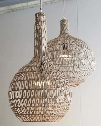 Impressive Rattan Pendant Light Jeffreypeak For Wicker Hanging Lamps throughout Outdoor Hanging Wicker Lights (Image 6 of 10)