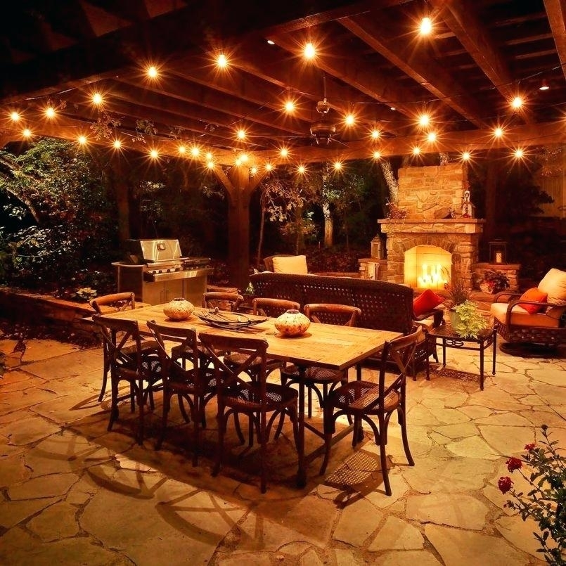 Inspirational Hanging Lights For Outside Party And Home Depot String throughout Outdoor Hanging Lights for Pergola (Image 3 of 10)