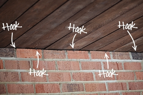 Installing Outdoor Happy Lights – 7Th House On The Left with Outdoor Hooks For Hanging Lights (Image 4 of 10)
