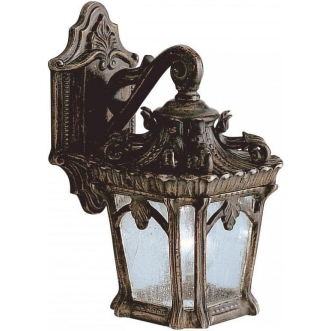 Ip44 Small Outdoor Wall Lantern With Ornate Bronze Gothic Detailing Within Gothic Outdoor Wall Lighting (View 8 of 10)