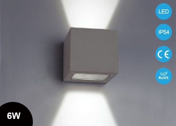 Ip54 Cube 6W Surface Mounted Outdoor Led Wall Lights , Square Up within China Outdoor Wall Lighting (Image 6 of 10)