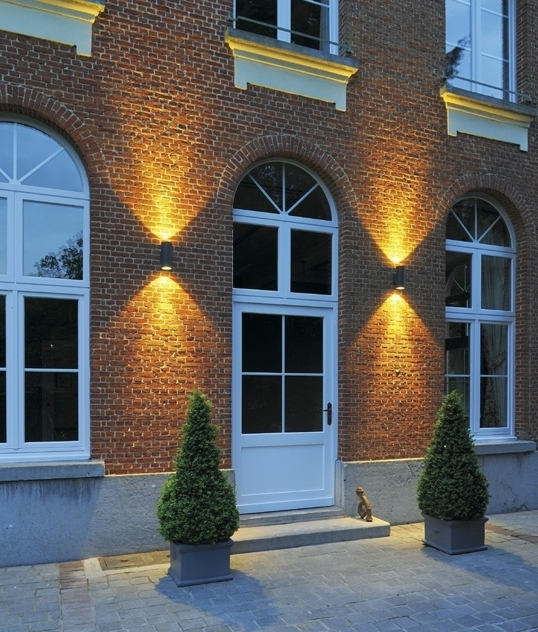 Ip55 Led Exterior Cylinder Wall Light Up & Down regarding Architectural Outdoor Wall Lighting (Image 6 of 10)