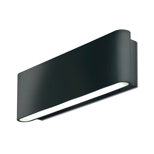 Ip65 Mains Hid Wall Light, Wall Lighting, Au-Wal511Blk, Aurora inside Black Outdoor Led Wall Lights (Image 6 of 10)
