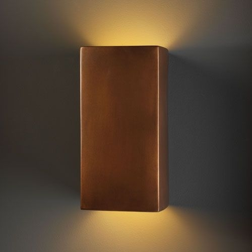 Justice Design Group Ambiance Antique Copper Led Large Rectangular Within Rectangle Outdoor Wall Lights (View 4 of 10)
