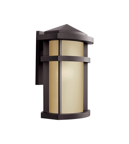 Kichler 11069Az Lantana 1 Light 15 Inch Architectural Bronze Outdoor For Outdoor Wall Lighting At Kichler (Gallery 8 of 10)