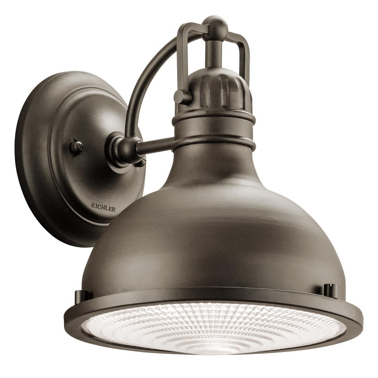 Kichler 49065Ozled Hatteras Bay Nautical Olde Bronze Finish 9.5 In Industrial Outdoor Wall Lighting (Photo 6 of 10)