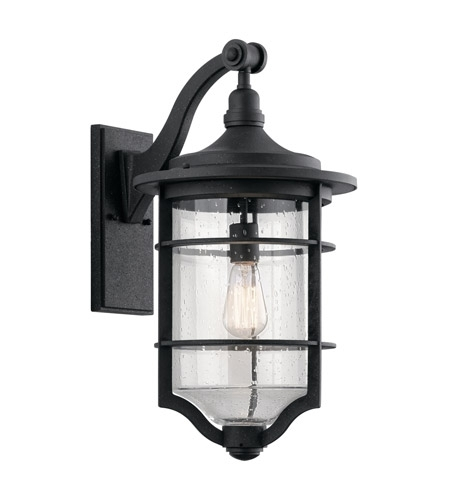 Kichler 49128dbk Royal Marine 1 Light 22 Inch Distressed Black Inside Large Outdoor Wall Lighting (View 7 of 10)