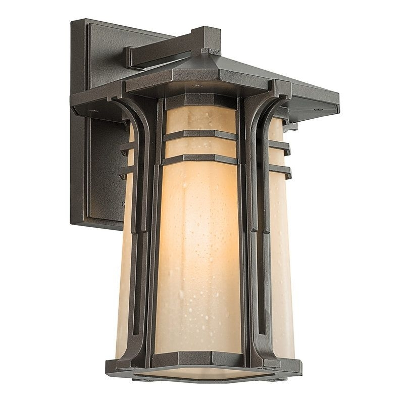 Kichler 49175Fl Craftsman / Mission Single Light Medium Fluorescent with regard to Craftsman Outdoor Wall Lighting (Image 3 of 10)