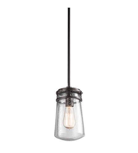 Kichler 49447Az Lyndon 1 Light 6 Inch Architectural Bronze Outdoor With Kichler Outdoor Hanging Lights (Photo 2 of 10)