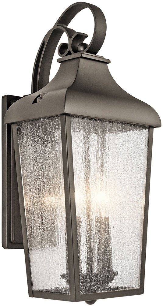 Kichler 49736Oz Forestdale Olde Bronze Outdoor Wall Lighting Sconce In Outdoor Wall Lighting At Kichler (Photo 2 of 10)