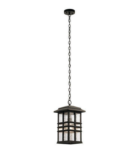 Kichler 49833Oz Beacon Square 1 Light 10 Inch Olde Bronze Outdoor For Kichler Outdoor Hanging Lights (Gallery 10 of 10)