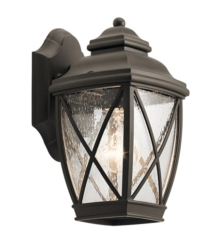 Kichler 49840Oz Tangier 1 Light 10 Inch Olde Bronze Outdoor Wall With Regard To Outdoor Wall Lighting At Kichler (Photo 10 of 10)