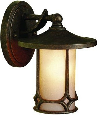 Kichler 9364 Aged Bronze Asian Themed 1 Light Outdoor Wall Sconce Throughout Asian Outdoor Wall Lighting (Photo 3 of 10)