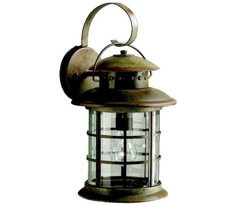 Kichler 9761Rst Rustic 1 Light Bronze Outdoor Wall Lighting inside Rustic Outdoor Wall Lighting (Image 4 of 10)