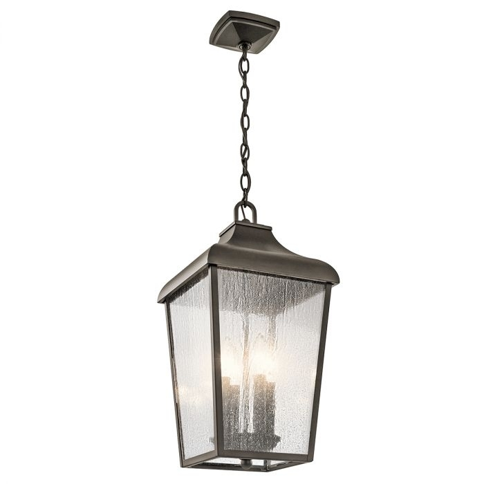 Kichler Forestdale 4 Light Outdoor Pendant In Olde Bronze   Outdoor Within Kichler Outdoor Hanging Lights (Photo 1 of 10)
