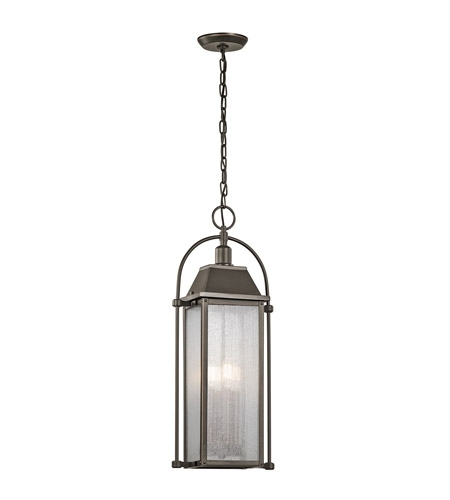 Kichler Harbor Row Outdoor Hanging Lighting Fixture   Bronze 49718Oz Regarding Kichler Outdoor Hanging Lights (Photo 5 of 10)