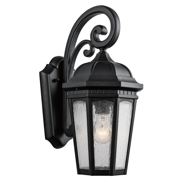 Kichler Lighting Courtyard Collection 1 Light Textured Black Outdoor Inside Kichler Lighting Outdoor Wall Lanterns (Photo 4 of 10)