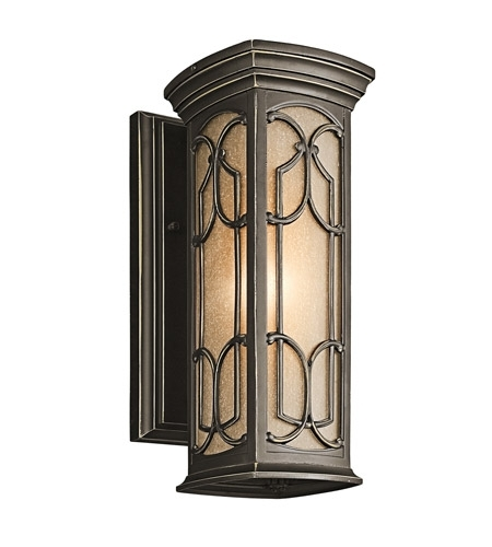 Kichler Lighting Franceasi 1 Light Outdoor Wall Lantern In Olde regarding Kichler Lighting Outdoor Wall Lanterns (Image 5 of 10)
