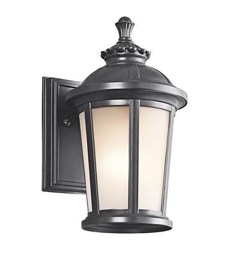 Kichler Lighting Ralston 1 Light Outdoor Wall Lantern In Black 49409Bk with regard to Kichler Lighting Outdoor Wall Lanterns (Image 8 of 10)