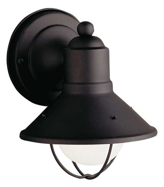 Kichler Lighting Seaside 1-Light Small Outdoor Wall Sconce - Rustic with regard to Small Outdoor Wall Lights (Image 5 of 10)