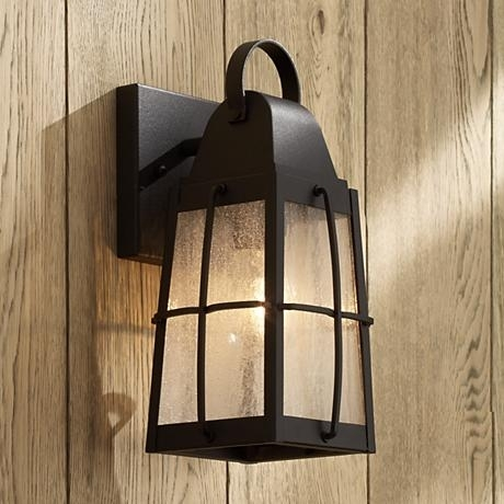 "Kichler Tolerand Seedy 12"" High Black Outdoor Wall Light 